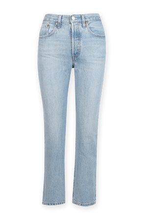 501 Crop Jeans in Light Wash LEVI`S