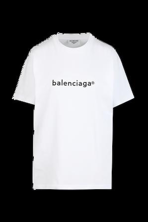 New Copyright Tee in White BALENCIAGA