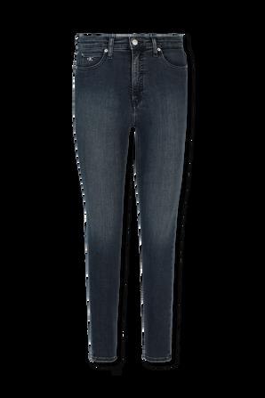High Rise Super Skinny Ankle Jeans in Dark Blue CALVIN KLEIN