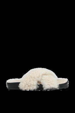 Zephyr Sherling Slide Sandals In Beige IRO