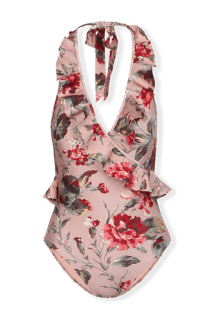 Cassia Frill Wrap 1 PC in Musk Floral ZIMMERMANN