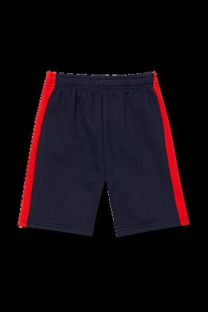 גילאי 2-12 מכנסיים קצרים בנייבי עם לוגו LACOSTE KIDS