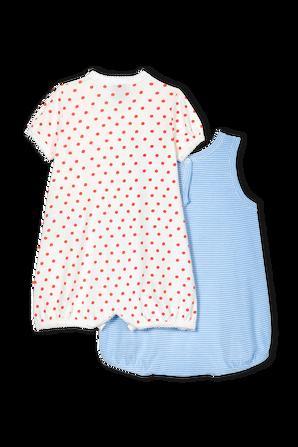 גילאי 3-24 חודשים מארז אוברול ובגד גוף קצרים PETIT BATEAU