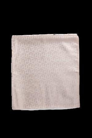 צעיף מונוגרמי בצבע קאמל מבריק TOMMY HILFIGER