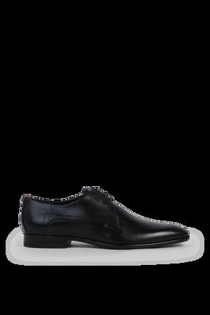 Derby Shoes in Black Leather HUGO