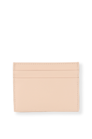 Baroque Card Holder in Pink Leather DOLCE & GABBANA