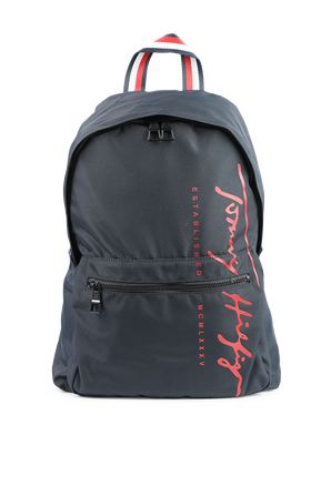 Th Signature Backpack in Navy Recycled Textile TOMMY HILFIGER