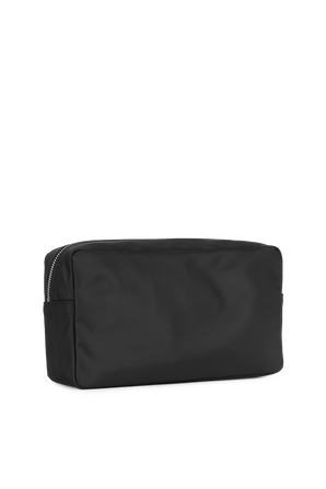 Logo Toiletry Bag in Black and White DSQUARED2