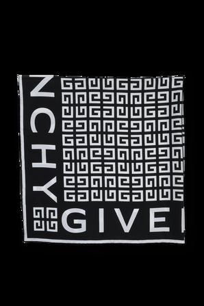 4G Scarf in Black Silk 90X90 GIVENCHY