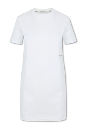 T-Shirt Dress in White CALVIN KLEIN