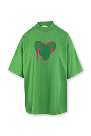 חולצה אוברסייז עם הדפס בצבע ירוק PALM ANGELS