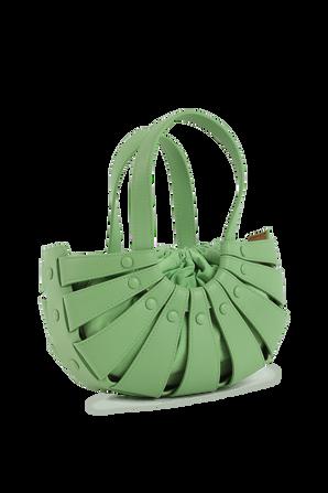 Shell Shoulder Bag Mini in Green Leather BOTTEGA VENETA