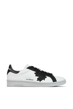 Boxer Sneaker in White and Black DSQUARED2