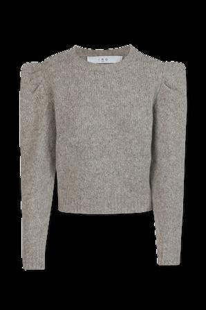 Omaha Structured Shoulder Sweater In Light Grey IRO
