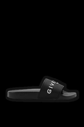 Logo Slides in Black GIVENCHY