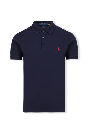 Slim Fit Stretch Mesh Polo in French Navy POLO RALPH LAUREN