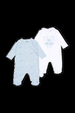 גילאי 6-12 חודשים סט שני אוברולים כחול KENZO KIDS