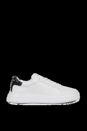 נעלי סניקרס מעור בצבע לבן CALVIN KLEIN