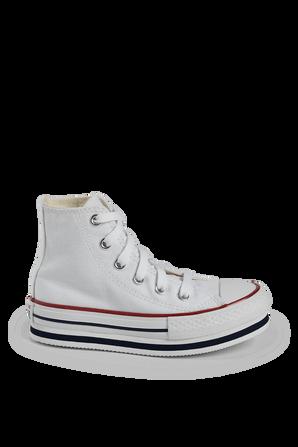 מידות 27-35 נעלי אולסטאר עם סוליה גבוהה בלבן CONVERSE
