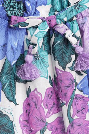 גילאי 1-10 חצאית פופי בהדפס פרחי לילך ZIMMERMANN KIDS