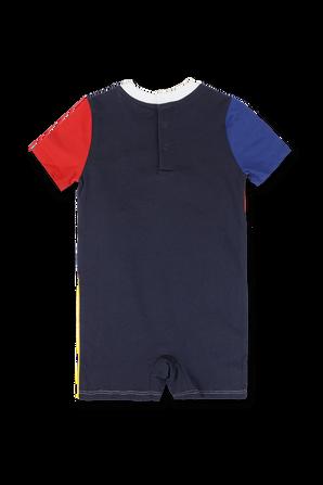 גילאי 3-24 חודשים אוברול קצר צבעוני עם לוגו POLO RALPH LAUREN KIDS