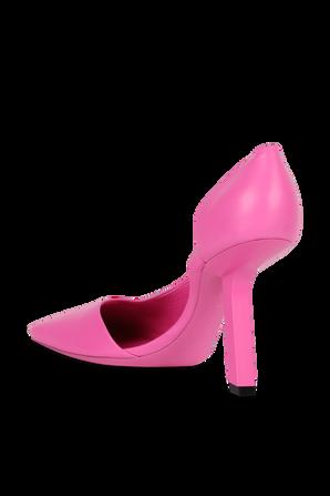 נעלי עקב עם סיומת שפיץ בגוון ורוד BALENCIAGA
