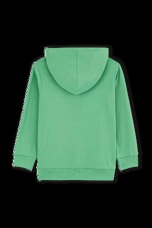גילאי 3-5 סווטשירט ארוך בגוון ירוק PETIT BATEAU