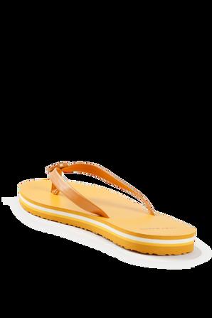Mini minnie Flip-Flop in Yellow TORY BURCH