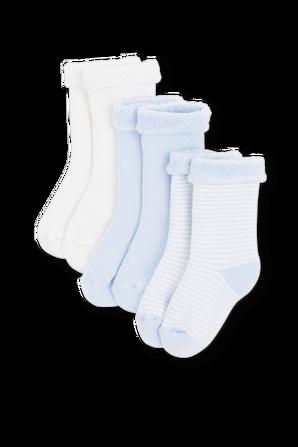 גילאי 3-12 חודשים מארז 3 זוגות גרביים בגווני תכלת PETIT BATEAU