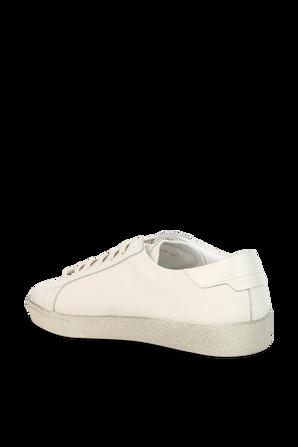 Court Classic SL06 Sneakers in Cream Worn Look Fabric SAINT LAURENT