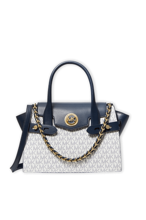 Carmen Small Bag With Logo Monogram and Leather In Beige MICHAEL KORS
