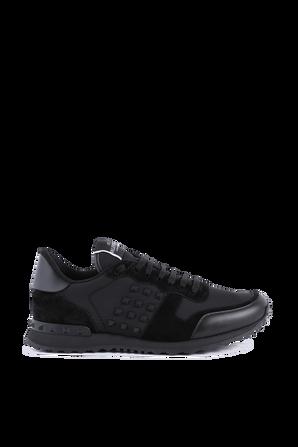 Rockstud Sneakers in Black VALENTINO