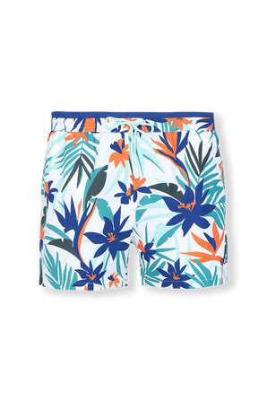 Swim Shorts With Tropical Print in Multicolor BOSS
