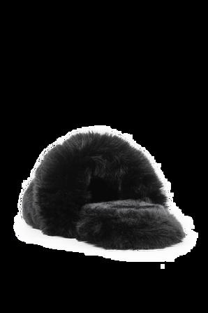 נעלי בית פרוותיות בצבע שחור VERSACE
