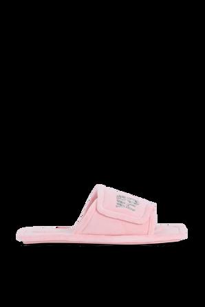 Lana Padded Logo Slipers in Pink ALEXANDER WANG