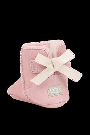 מידות 16-20 מארז תינוקות מגפיים וכובע גרב בוורוד חיוור UGG
