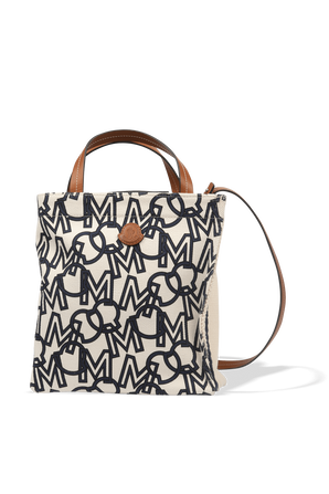 Tote Bag Raya Small in White ad Blue MONCLER