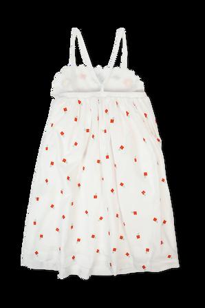 גילאי 2-14.5 שמלה לבנה פרחים צבעוניים רקומים STELLA McCARTNEY KIDS