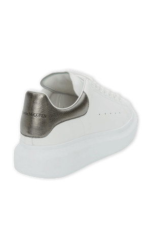 Oversized Sneakers in White and Silver ALEXANDER MCQUEEN