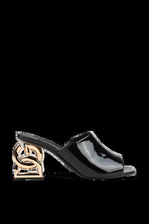 DG Heel Sandals in Black DOLCE & GABBANA