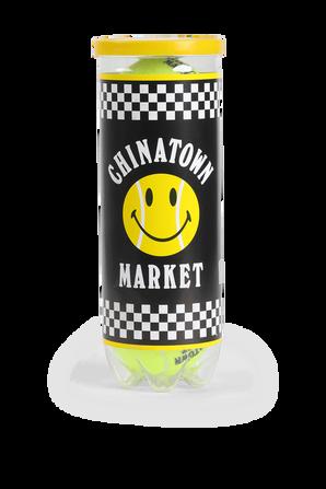 Yellow Smiley 3 Tennis Balls CHINATOWN MARKET