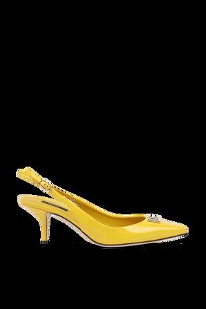 Stiletto Slingback Pump in Yellow DOLCE & GABBANA