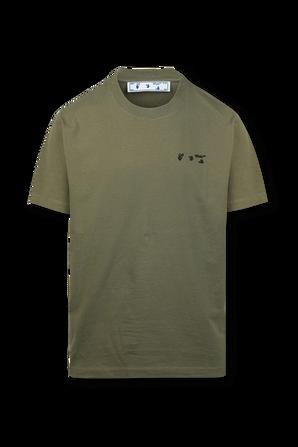 חולצת טי עם לוגו בירוק OFF WHITE