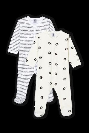 גילאי 3-24 חודישם מארז של שני בגדי שינה בעיצובים שונים PETIT BATEAU