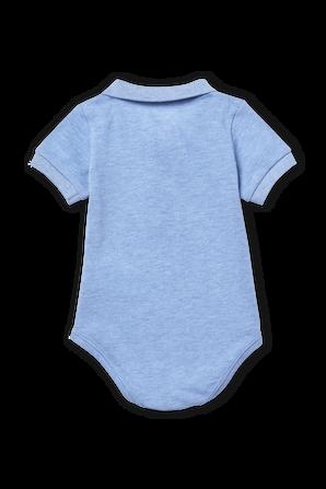 גילאי 6-12 חודשים מארז בגד גוף בגזרת פולו בתכלת LACOSTE KIDS