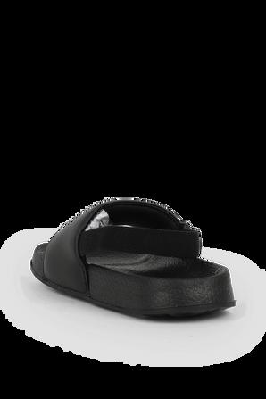 מידות 22-28 כפכפי סליידס שחורים עם לוגו FILA