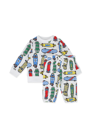 מארז מכנסיים ארוכים וסווטשירט עם הדפס סקייטבורד צבעוני STELLA McCARTNEY KIDS