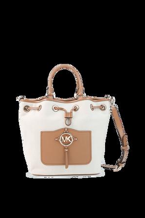 Medium Bucket Bag in Natural MICHAEL KORS