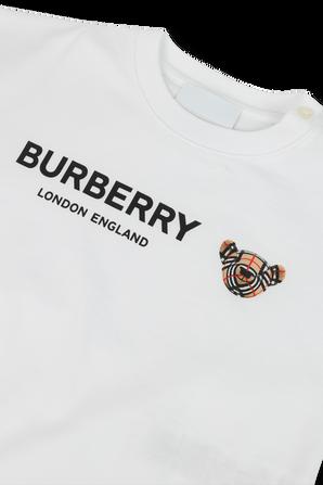 גילאי 1-6 חודשים מארז שלושה חלקים בדוגמת המשבצות BURBERRY