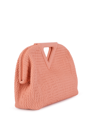 The Triangle Bag in Peach BOTTEGA VENETA
